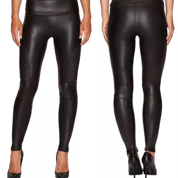 a7f39e402680b5 SPANX Pants | Faux Leather Moto Leggings Size L Nwt | Poshmark